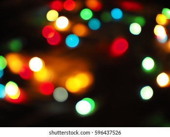 Abstract bokeh blurred color light, defocused background