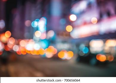 Abstract bokeh city light at night