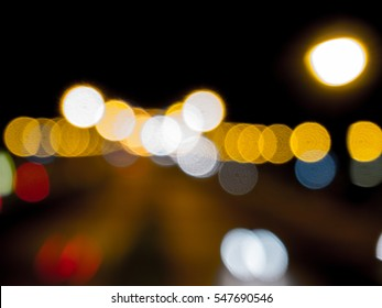 Abstract bokeh light background of city night