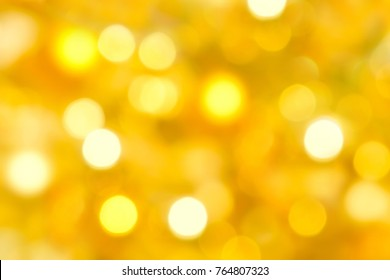 Abstract bokeh light gold background