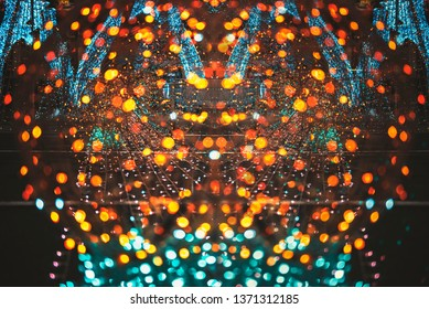 Abstract  bokeh lighting blurred background