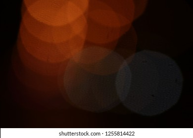 Abstract Bokeh of lighting on the road