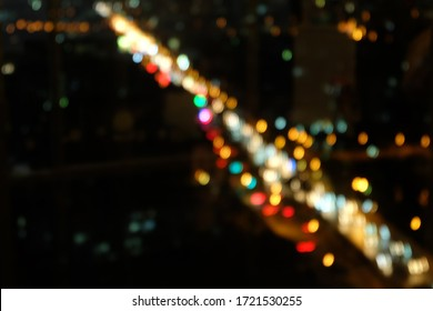 Abstract bokeh lights texture background blurry lights in a city at night