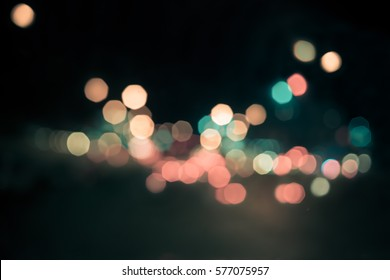 Abstract boken light background. Two color schemes of mint green and antique rose pink bokeh light , vintage style.