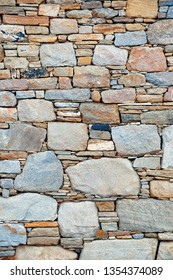 Abstract brick stone background in Historical Ruins in Delos Island near Mikonos, Greece.