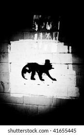 Abstract Brickwall Graffiti