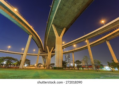 Abstract bridge in Bangkok