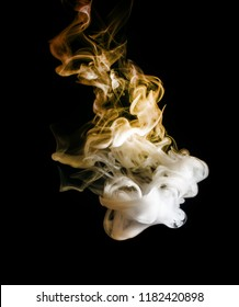 abstract bright and beautiful color smoke colorful on black background.