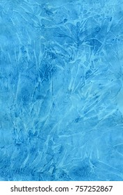 Abstract bright blue lilac watercolor hand-painted background