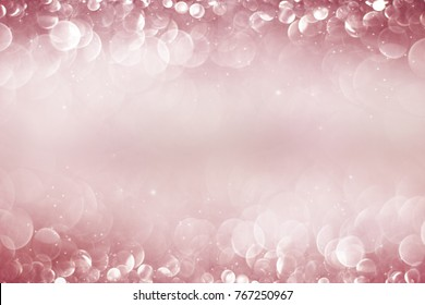 Abstract of Bright and sparkling bokeh background. pink and diamond dust bokeh -blurred lighting from glitter texture. Luxury design background.