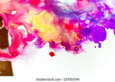 Abstract Bright Watercolor  grunge texture with paint splatter