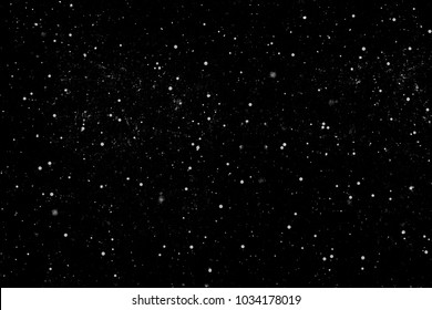 Abstract Bright White Shimmer Glowing Round Particles Background.