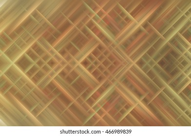 Abstract brown fractal background with various color lines and strips