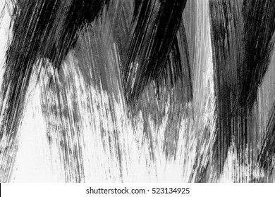 abstract brush strokes black and white