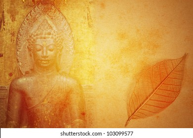 Abstract Buddhist Collage Background