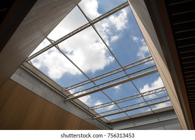 Abstract building roof