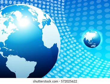 Abstract Business Background with Globe - Raster Version