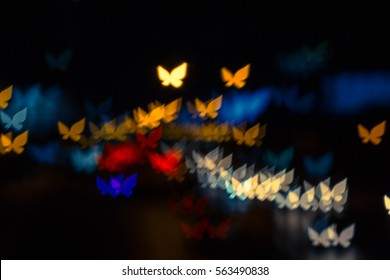 Abstract Butterfly Backgrounds Bokeh
