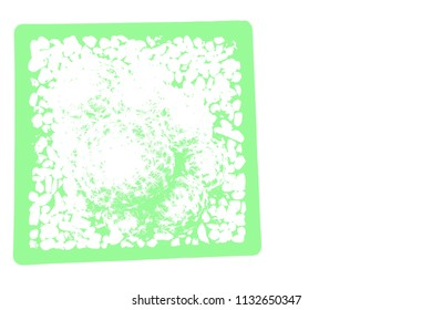 Abstract cactus on white background