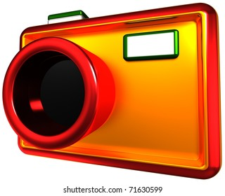 abstract camera,  3d render isolated on white