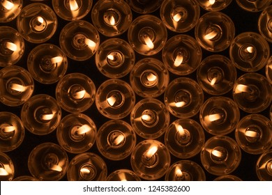 Abstract candles background
