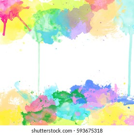 Abstract celebratory background. Stock watercolor illustration for design