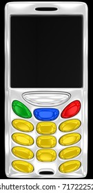 abstract cell phone with empty buttons