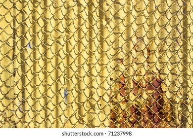 Abstract Chain-Link Fencing Background