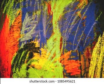 abstract chalks on wood