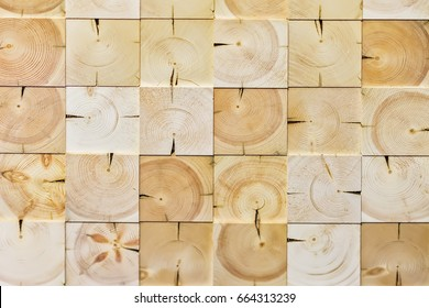 Abstract checkered pattern, from different ecologik wooden decorative tiles, natural wood texture, for modern background