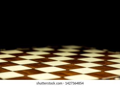 abstract chessboard on dark background