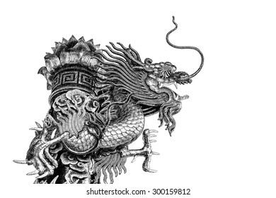 Abstract Chinese dragon graphic