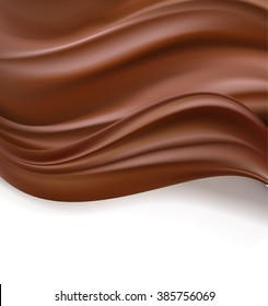 Abstract chocolate background. Raster illustration