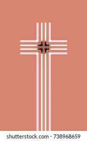 abstract of a Christian cross