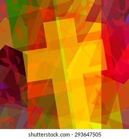 Abstract christian cross background