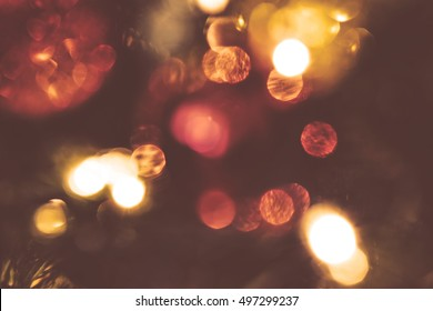 Abstract christmas background, light blur creating nice bokeh