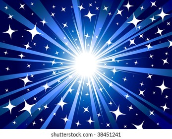 Abstract Christmas star background