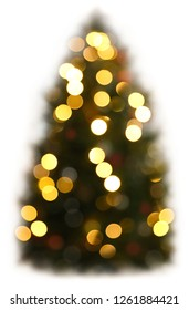 Abstract christmas tree isolated on white background.