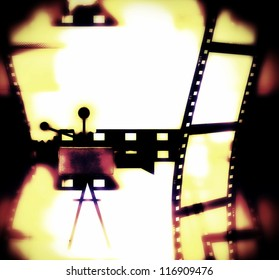 Abstract cinema background, illustration