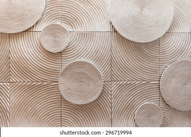 abstract circle shape of stone texture background