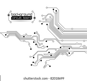 Abstract circuit board background - Raster version
