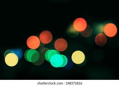 abstract circular bokeh background of city night life