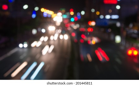 Abstract circular bokeh background of traffic lights