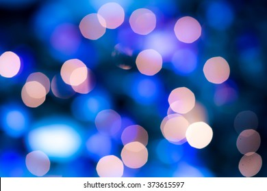 Abstract circular bokeh circles defocused bokeh lights facula background for Christmas background colors or photo composit.