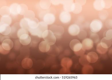 Abstract circular copper color bokeh background