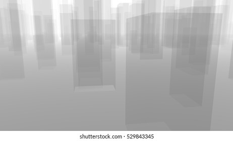 Abstract City Background, useful for many Applications (3d rendering)