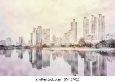 abstract city blur background