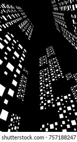 abstract city buildings 3d illustration