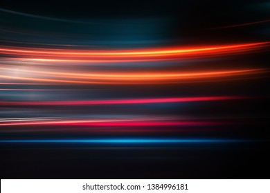 abstract city lights at night