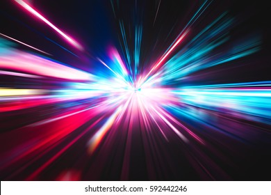 Abstract city street light explosion effect - Shutterstock ID 592442246